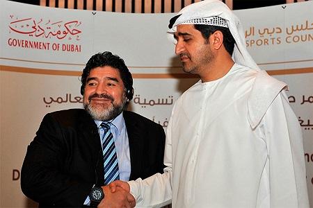 Diego Maradona en Dubai