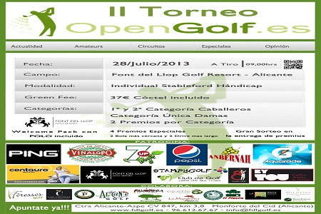 Éxito del Torneo OpenGolf antes de su comienzo