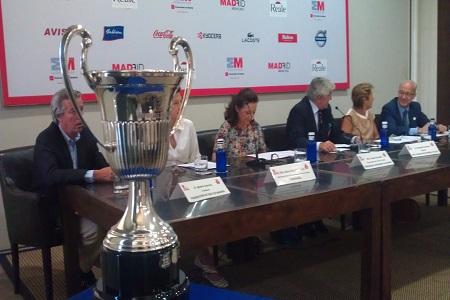 La Copa del Open de España femenino presidió el acto de presentación del torneo en Madrid. Foto: Mondelo