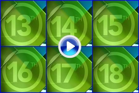 VÍDEO: Conozca el campo del 4º 'Grande', Oak Hill CC. Hoyos del 13 al 18