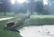 Oak Hill CC, sede del PGA Champ., quedó dañado por una fuerte tormenta