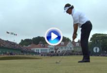 Mickelson se luce con este 'approach' en el 18 para rematar la victoria (VÍDEO)