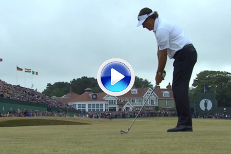 Phil Mickelson approach 18