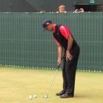 Tiger Woods Calentando Foto @ESPNGolf