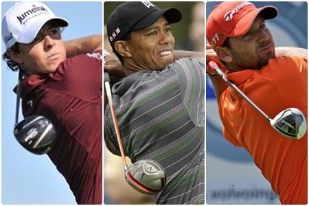 Tiger Woods Rory McIlroy y Sergio García