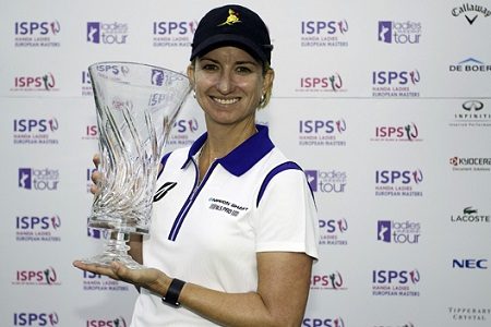 Karrie Webb of Australia with her trophy