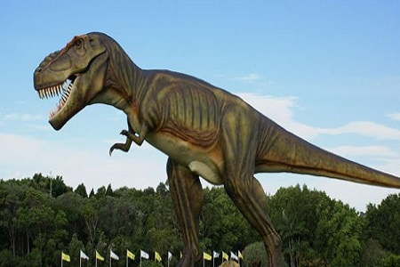 Dinosaurio en el campo de Coolum