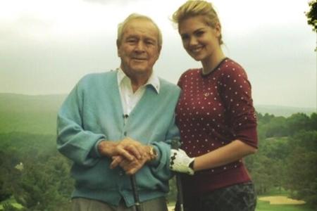 Arnold Palmer y Kate Upton