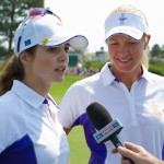 Beatriz Recari andSuzann Pettersen are interviewed