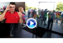 Billy Horschel muestra sus nuevas gafas demo de Google en The Barclays