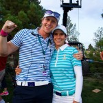 Europe's Osteopath, Andrew Levick celebrates with Azahara Munoz