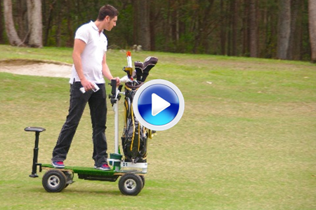 Otra alternativa al 'buggie', el Golf Skate Caddie (VÍDEO)
