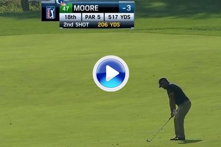 El golpe del día para Ryan Moore, se quedó a cms. de lograr el albatros desde 186 mts. (VÍDEO)
