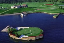 Ingeniería del golf: un 'green' flotante en Idaho
