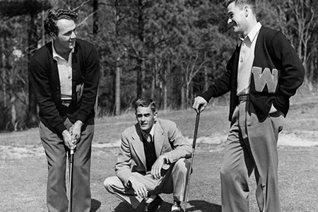 Arnold Palmer (izqda.) en su época en Wake Forest. Foto: Wake Forest University