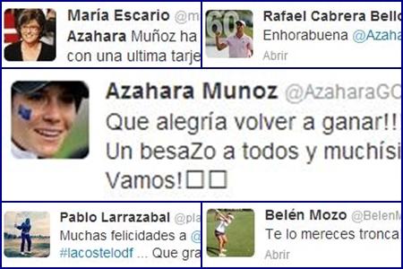 El mundo felicita a Azahara Muñoz por su gran victoria en Francia