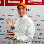 Carlota Ciganda con el trofeo del Ladies German Open