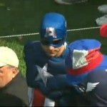 El Capitán América en la pasada Ryder Cup en Medinah