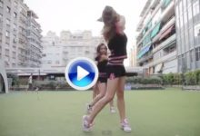 Las 'cheerleaders' del Barça 'coquetean' con el golf (VIDEO)
