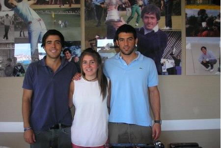 De izqda. a dcha, Javier, Carmen y Miguel Ballesteros