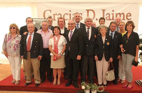 Miguel Ángel Jiménez (4º arriba por la izqda.) en la foto de familia en La Cañada, cedida por Martín Gutiérrez