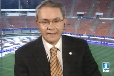 José Ángel de la Casa en su despedida. Foto: TVE