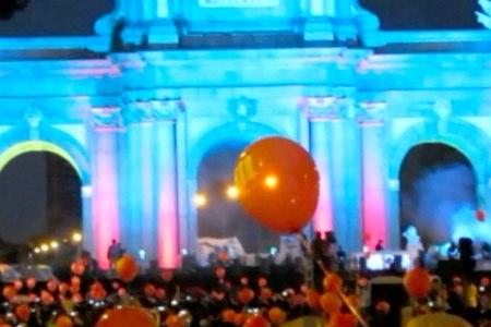 Puerta de Alcalá, en Madrid, a la espera de la decisión del COI. Foto: Opengolf.es