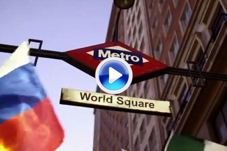 'La plaza de España se convierte en la plaza del mundo', fantástico VÍDEO presentado por Madrid 2020