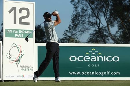 Álvaro Quirós en el tee de salida del 12 del Oceánico. Foto: Getty Images