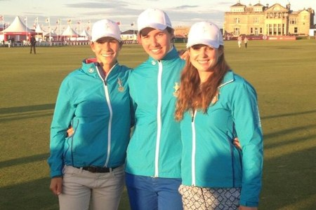 Azahara Muñoz, Beatriz Recari y Carlota Ciganda Solheim Foto Beatriz Recari vía Twitter
