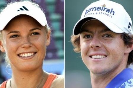 Caroline Wozniacki y Rory McIlroy. Foto www.irishcentral.com