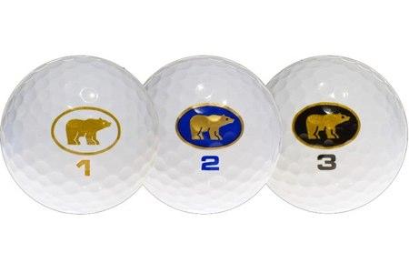 Las tres bolas de golf nuevas de Jack Nicklaus
