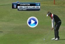 El golpe del día en el PGA Tour para Jeff Overton por este 'approach' desde 110 mts. (VÍDEO)