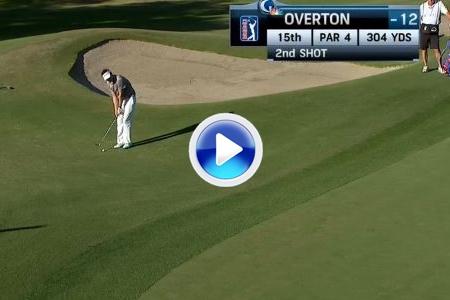 GOLPE DEL DÍA: Chip de Jeff Overton que embocó la bola para convertirlo en eagle (VÍDEO)
