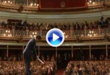 El swing y el beso al cielo de Olazábal (VÍDEO)