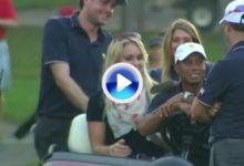 Broma de Lindsey Vonn a Tiger con 'Sammy', la ardilla mascota de EEUU (VÍDEO)