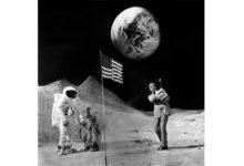 Sean Connery y su mítica foto golpeando una bola de golf en la luna, en Madrid