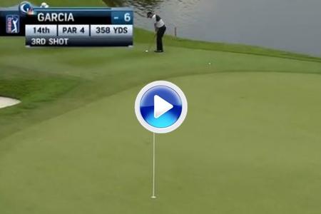 VÍDEO: Maestría de Sergio García en este 'chip'. Fue el golpe del día en el PGA Tour
