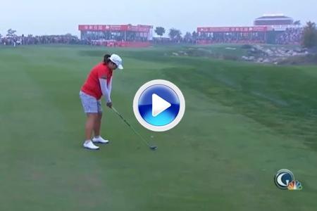 Vea el golpe de fortuna con el que Shanshan Feng logró su victoria en China (VÍDEO)