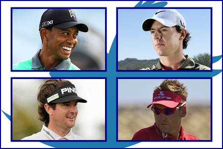 Tiger Woods, Rory McIlroy, Bubba Watson y Ian Poulter, millonarios en Twitter