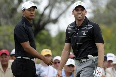Tiger Woods y Sergio García en el último Cadillac Championship PGA Tour