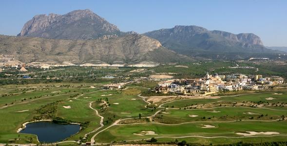 Vistas del complejo de Villaitana Golf
