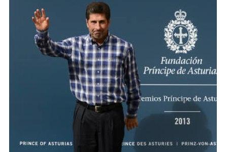 José Mari Olazábal llegó a Oviedo, en donde recibirá el viernes el Premio Príncipe de Asturias
