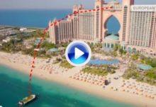 Estos tíos son unos fenómenos. Espectacular reto desde el piso 22 del Hotel Atlantis (VÍDEO)