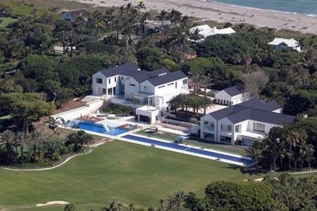 Vista aérea de la casa de Tiger Woods