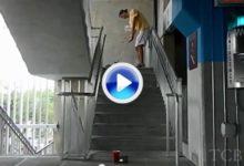 Kyle Johnson, muestra sus habilidades en un garaje. Un super crack (VÍDEO)