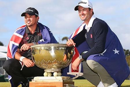 Jason Day y Adam Scott campeones del mundo. Foto: worldcup.pgatour.com