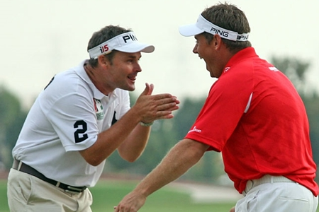 Lee Westwood y Billy Foster Foto bbc.co.uk