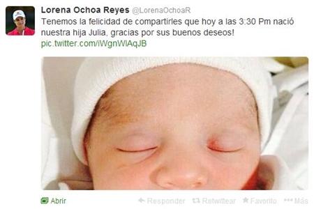 Lorena Ochoa Twitter nacimiento