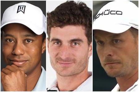 Tiger Woods, Alejandro Cañizares y Henrik Stenson